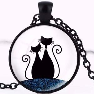 Necklace- NEW- Black Cat Necklace